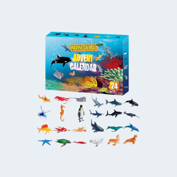 Boite Calendrier Avent animaux marins