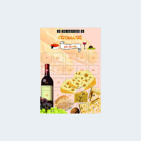 Calendrier Avent 25 recettes Fromage