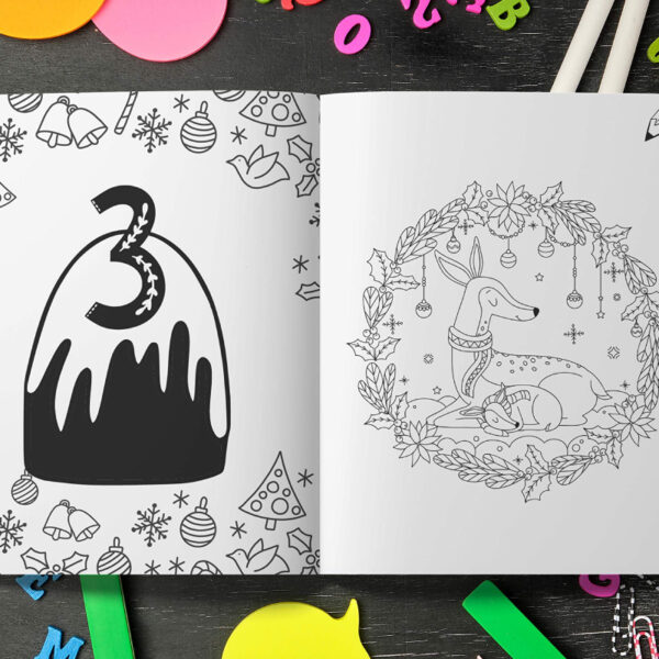 Calendrier Avent Coloriage Animaux Crayons