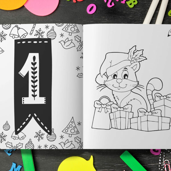 Calendrier Avent Coloriage Animaux Noel