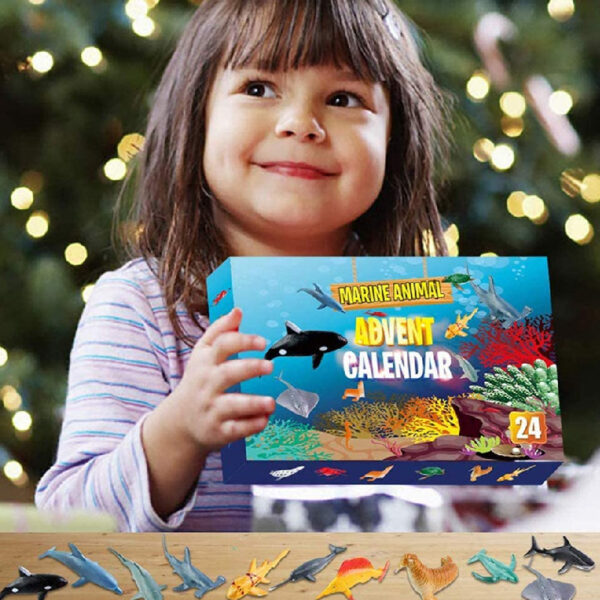 Calendrier Avent Figurines animaux marins