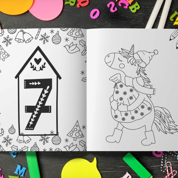 Calendrier Avent Licorne Crayons Couleurs