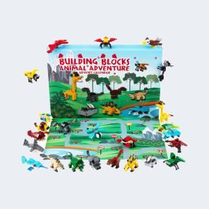 Calendrier de L'Avent Enfant Jeux Animaux Construction