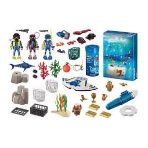 Figurines Calendrier de l'Avent Playmobil Jeu de bain Policiers (70776)