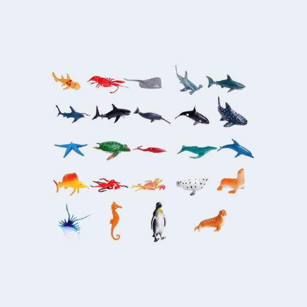 Figurines animaux marins