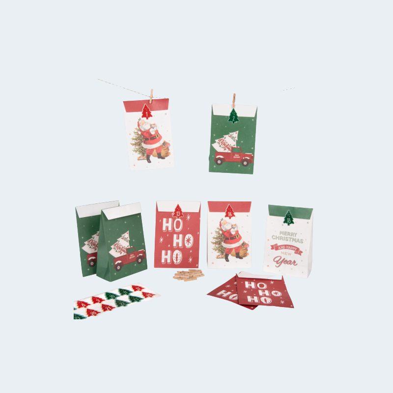 Kit calendrier Pochettes Rouge