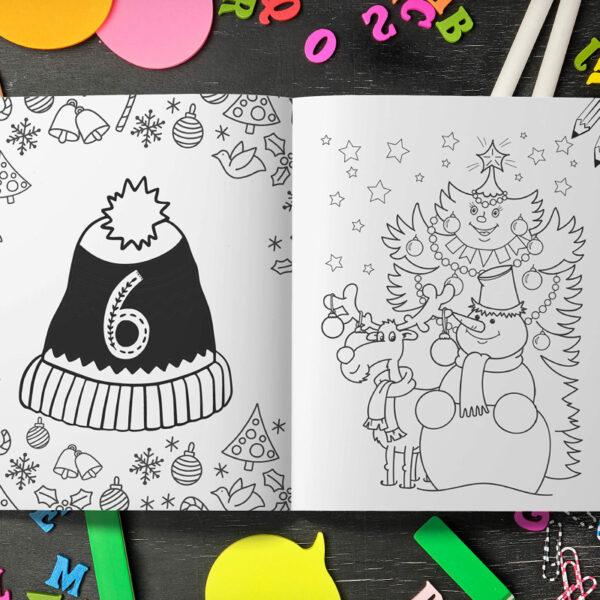 Livre Calendrier Avent Crayon Coloriage