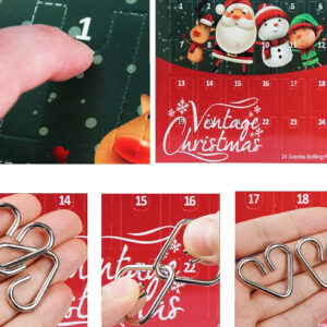 Metal Wire Puzzle Jouets Calendrier Avent