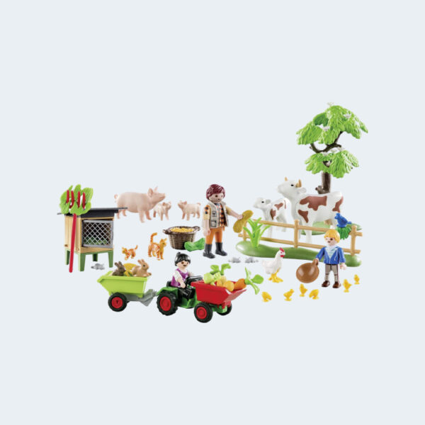 Personnages Calendrier Avent Playmobil Animaux Ferme 70189