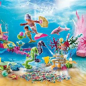 Scène Calendrier de l'Avent Playmobil Jeu de bain Le monde des sirènes (70777)
