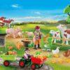 Tracteur Calendrier Avent Playmobil Animaux Ferme 70189